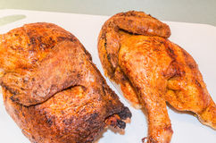 Brown grilled chicken Royalty Free Stock Images