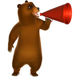 Brown grizzly bear. 3 d cartoon Brown grizzly bear Stock Photos