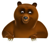 Brown grizzly bear. 3 d cartoon Brown grizzly bear Royalty Free Stock Photography