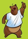 Kreskówka grizzly niedźwiedź royalty ilustracja