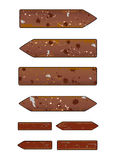 Brown grunge arrows Stock Image