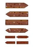 Brown grunge arrows Stock Image