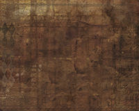 Brown grunge background. With embossed border and lots  of room for text Stock Image