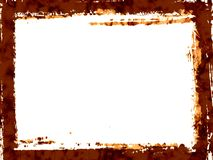Brown grunge border Stock Photo