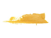 brown grunge brush strokes oil paint isolated on white Royalty Free Stock Photo