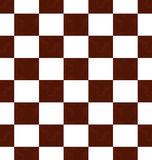 Brown grunge checkered pattern Stock Photography
