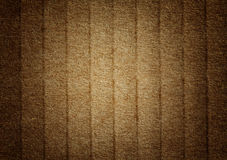 Brown grunge corrugated cardboard Royalty Free Stock Photo