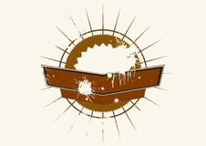 Brown grunge emblem  Royalty Free Stock Photos