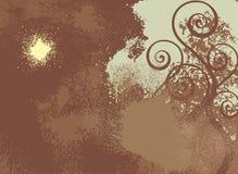 Brown grunge Hintergrundvektor stock abbildung