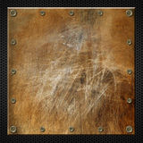 Brown Grunge Metal Background Stock Photo