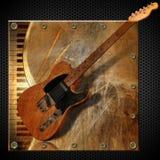 Brown Grunge Metal Background Stock Image