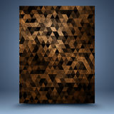 Brown grunge geometric abstract background Stock Photo