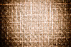 Brown Grunge Textile Canvas Background Stock Photography