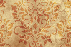 Brown grunge texture floral design Royalty Free Stock Images