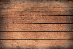 Brown grunge wooden planks, tabletop, floor surface, wall Royalty Free Stock Photos