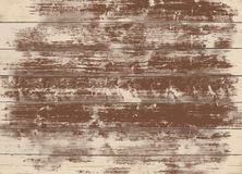 Brown grunge wooden wall, table, floor surface. Dark vector wood texture. Stock Photography