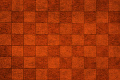 Brown grungy chessboard background Royalty Free Stock Photography