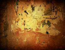 Brown grungy wall Stock Image