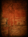 Brown grungy wall. Drama gold grunge wall in paris, ideal to create dramatic effects Stock Images