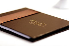 Brown guest book Royalty Free Stock Photography