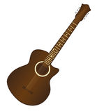 Brown guitar Royalty Free Stock Photos