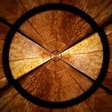 Brown gwiazdowego wzoru Promieniowy ślimakowaty abstrakcjonistyczny część 2 Obraz Royalty Free