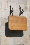 Brown-hölzernes Zeichen. Stockbild