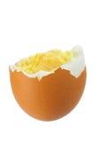 Brown ha bollito l'uovo Immagini Stock