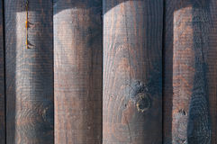 Brown ha dipinto il legno Immagini Stock