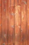Brown ha macchiato le plance di struttura di legno della parete Fotografie Stock