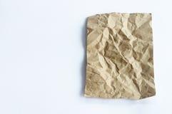 Brown ha sgualcito la struttura di carta Fotografie Stock