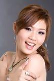 Brown-Haar Asiatmädchen Stockbild