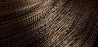 Brown-Haar-Schlagnahaufnahme Lizenzfreie Stockbilder