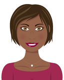Brown-Haar und Augenafro-Frau Stockfotos