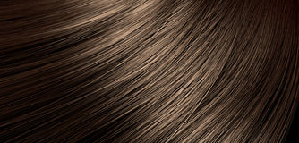 Brown Hair Blowing Closeup Royalty Free Stock Images