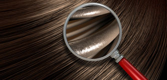 Brown Hair Blowing With Magnification Stock Photo