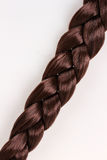 Brown hair braid Stock Image