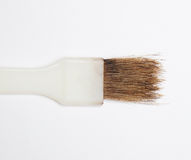 Brown hair brush Stock Photography