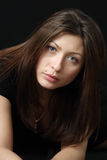 Brown-haired женщина. стоковые фотографии rf