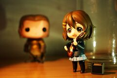 Brown Haired Female Anime Character Figure Stock Photos