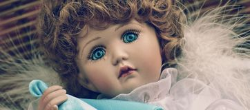 Brown Haired Female Doll Royalty Free Stock Photography