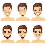 Brown Haired Man Beard Styles Royalty Free Stock Photography