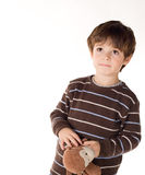 Brown haired toddler boy. Royalty Free Stock Photography