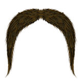 Brown Hairy Mustache Stock Images