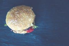 Brown Hamburger Bun Stock Image