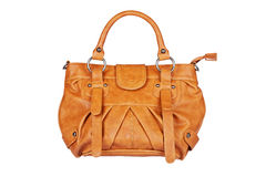 Brown handbag Stock Photography