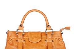 Brown handbag Stock Images