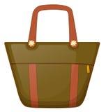 A brown handbag. Illustration of a brown handbag  on a white background Royalty Free Stock Photo