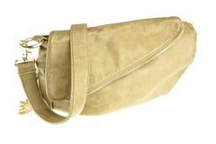 Brown handbag isolated Stock Photography