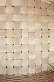 Brown handicraft weave texture wicker surface for furniture mate Stock Images